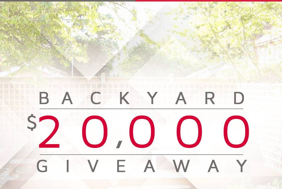 20,000 backyard giveaway